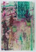 Plant Pots in House D (D 棚的盆栽) Cheng Ting Ting 2018 Oil on canvas 220 x 150 cm Courtesy to the artist and Over the Influence Gallery