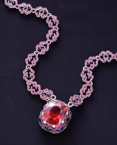 Pledge Rubellite necklace Designer: Wallace Chan Lucky Jewelry, Taipei