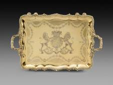 An important George IV tray silver-gilt London, 1823, maker's mark of Philip Rundell W. 80 cm Koopman Rare Art, London
