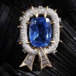 Tiffany Natural Sapphire Brooch Designer: Jean Schlumberger 1960s Ceylon sapphire with no indication of thermal treatment, approx. 59.42 cts Lucky Jewelry, Taipe