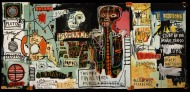 Notary, Jean-Michel Basquiat, 1983, Acrylic and crayon on canvas, 180.5 x 401.5 cm, Courtesy to the artist ©Jean-Michel Basquiat