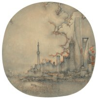 Shanghai Xu Jianguo 2016 | Diametre 38 cm | Chinese ink & colour on silk