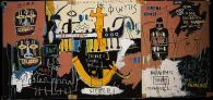 History of Black People, Jean-Michel Basquiat, 1983, Acrylic and oil stick on canvas, mounted on wood, 76.8 × 138.4 cm, Courtesy to the artist ©Jean-Michel Basquiat