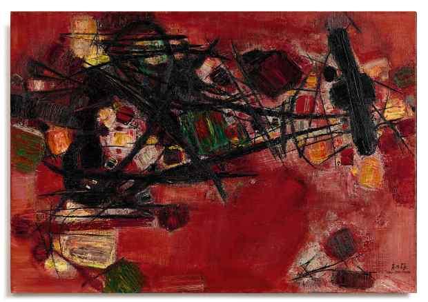 7. Chu Teh-Chun, Rouge lourd et vert leger, 1959.jpg