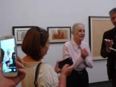 美術館主人Angela Rosengart(1932年出生) ,難得在83歲時出現,向觀眾講與畢卡索的交往故事。我幸運在2015年8月27日遇上她。