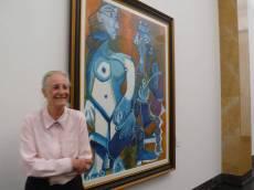 畢卡索為Angela畫了6幅大肖像油畫。83歲的她,站在年輕時候當畢卡索模特兒的畫像前,當然興奮。