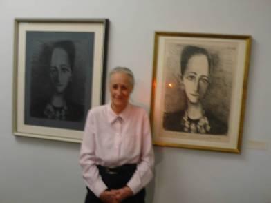 除了大油畫之外,畢卡索也為Angela畫了多幅黑白素描。