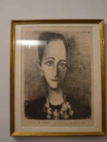 黑白素描Angela.Rosengart.