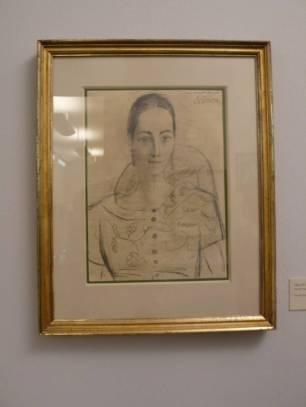 畢卡索給Angela Rosengart另一張素描,大概用碳筆畫的。
