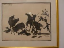 西班牙畫家擅長畫鬥牛,畢卡索似用毛筆來畫。在這個題材,他勝過中國水墨畫家。