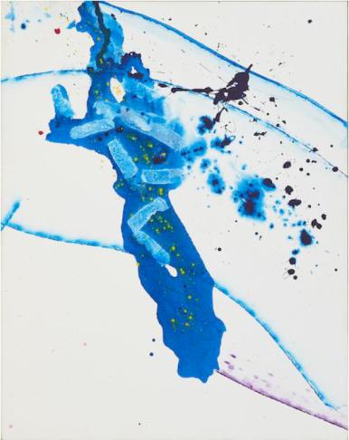 山姆.弗朗西斯,《無題(SFP 習作2)》,1990, 壓克力 畫布,170 x 134.6 cm;圖片由藝術家及Phillips提供 Sam Francis, Untitled (SFP Study2), 1990, Acrylic on canvas, 170 x 134.6 cm; Courtesy to the artist and Phillips