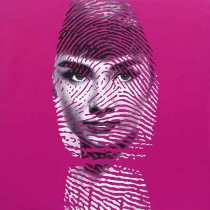 鄒操(Zou Cao) Peerless Beauty – Audrey Hepburn 絕代佳人 - 赫本1 2009, 140 x 140cm, Oil & Acrylic on Canvas