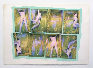 Carolee Schneemann Forbidden Actions - Museum Sarcophagus, 1979 Photo-silkscreen of nude action Edition 11 of 250 77.5 x 107.3 cm Courtesy of the artist and P.P.O.W.