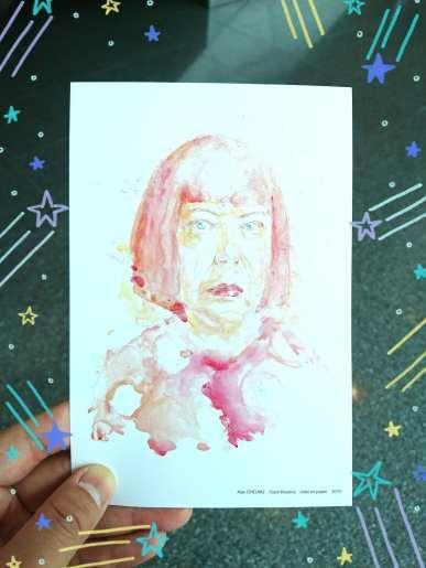 Alan CHEUNG, Yayoi Kusama, color on paper, 2018