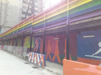 Pantone C,《壁畫隧道》,2018 Pantone C, Mural Tunnel, 2018