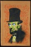 班克斯,《亞伯林肯》(Abe Lincoln, 2008),噴漆 紙板,89.9 x 59.9 公分 (35 3/8 x 23 5/8 英吋),2008年作,並附Pest Control工作室之保證書。估價:港幣 1,000,000 - 2,000,000 / 美元 128,000 - 256,000。圖片來自富藝斯。