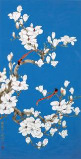 LOT 1274 于非闇,《玉蘭綬帶》,設色紙本,鏡框,一九五七年作 Yu Fei'an, Paradise Flycatchers by Magnolia, ink and colour on paper, framed, 1957 Estimiated: HK$ 7,000,000 - 9,000,000 Result: HK$ 15,720,000 (2,004,300 USD)