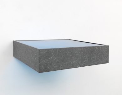 Donald Judd, Untitled, 1985. Galvanized iron and transparent light, (c) 2018 Judd Foundation (ARS), New York, Courtesy Judd Foundation and David Zwirner (1); Courtesy of the artist and Sinclair