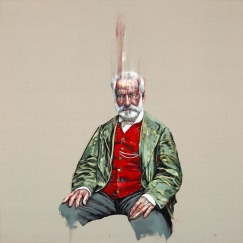 雨果 180 x 180厘米 油彩畫布 2018 (於倫敦展出)