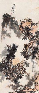 中國嘉德2018年秋拍焦點拍品:潘天壽(1897-1971),《無限風光》,1963年,設色紙本 立軸,358.5 × 150 cm;成交:人民幣2.875億元