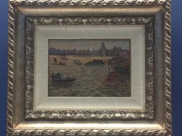 6_顏文樑 《黃埔江》木板油彩 18 x 26 cm 1960年代