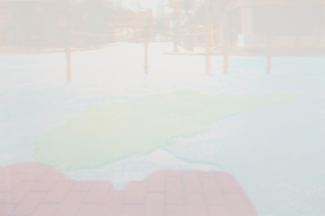 Asphalt Island I 陳伊婷 絲印版畫 75.5 x 50.5 cm Asphalt Island I Chan Yi-ting Screenprint 75.5 x 50.5 cm